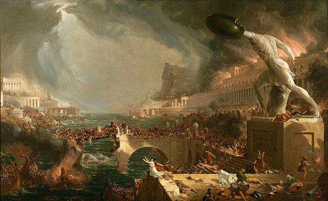 Cole Thomas, Destruction - The Course of Empire Destruction, 1836